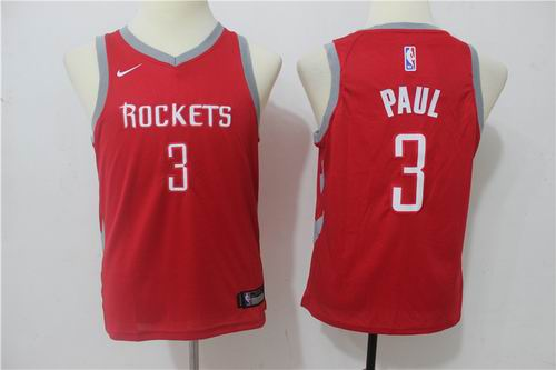 Youth Nike Houston Rockets #3 Chris Paul Red Jersey