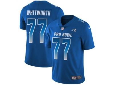 Youth Nike Los Angeles Rams #77 Andrew Whitworth Royal Limited NFC 2018 Pro Bowl Jersey