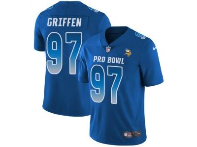 Youth Nike Minnesota Vikings #97 Everson Griffen Royal Limited NFC 2018 Pro Bowl Jersey