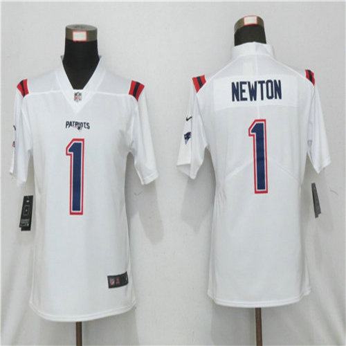 Youth Nike New England Patriots 1 Cam Newton White Jersey