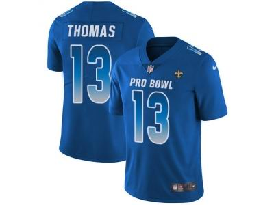 Youth Nike New Orleans Saints #13 Michael Thomas Royal Limited NFC 2018 Pro Bowl Jersey