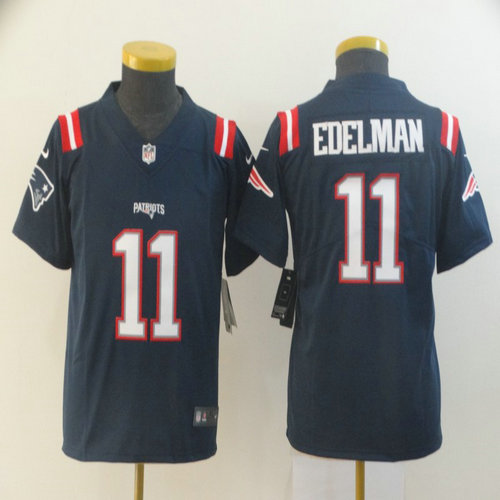 Youth Nike Patriots 11 Julian Edelman Navy Youth Color Rush Limited Jersey