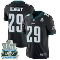 Youth Nike Philadelphia Eagles #29 LeGarrette Blount Black Alternate Super Bowl LII Champions Stitched NFL Vapor Untouchable Limited Jersey