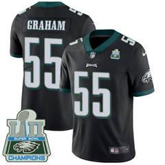 Youth Nike Philadelphia Eagles #55 Brandon Graham Black Alternate Super Bowl LII Champions Stitched NFL Vapor Untouchable Limited Jersey