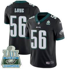 Youth Nike Philadelphia Eagles #56 Chris Long Black Alternate Super Bowl LII Champions Stitched NFL Vapor Untouchable Limited Jersey
