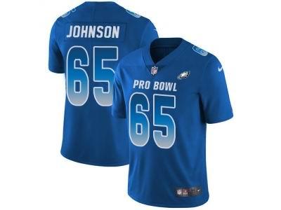 Youth Nike Philadelphia Eagles #65 Lane Johnson Royal Limited NFC 2018 Pro Bowl Jersey