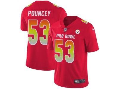 Youth Nike Pittsburgh Steelers #53 Maurkice Pouncey Red Limited AFC 2018 Pro Bowl Jersey