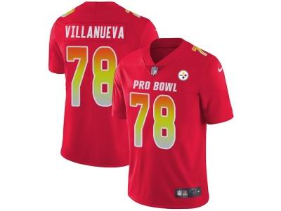 Youth Nike Pittsburgh Steelers #78 Alejandro Villanueva Red Limited AFC 2018 Pro Bowl Jersey