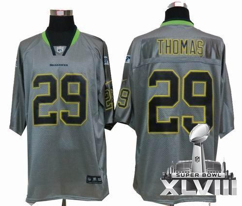 Youth Nike Seattle Seahawks 29# Earl Thomas Lights Out grey elite 2014 Super bowl XLVIII(GYM) Jersey