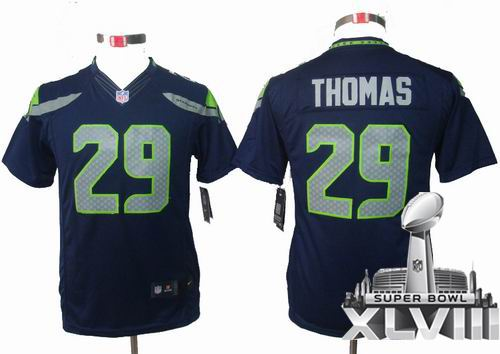 Youth Nike Seattle Seahawks 29# Earl Thomas team color limited 2014 Super bowl XLVIII(GYM) Jersey