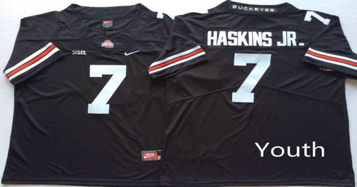 Youth Ohio State Buckeyes 7 Dwayne Haskins Jr. Black Youth College Football Jersey