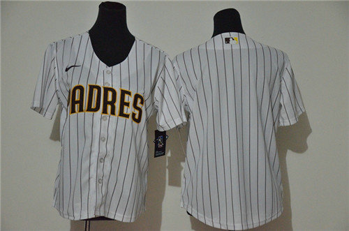Youth Padres Blank White Youth Cool Base Jersey