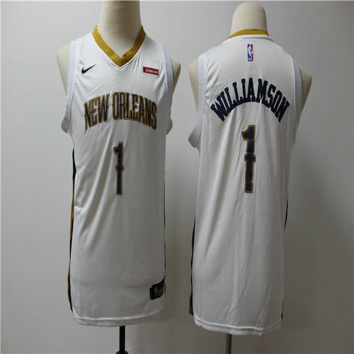 Youth Pelicans 1 Zion Williamson White Youth Nike Swingman Jersey