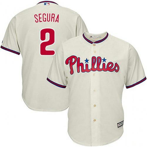 Youth Philadelphia Phillies #2 Jean Segura Cream Jersey