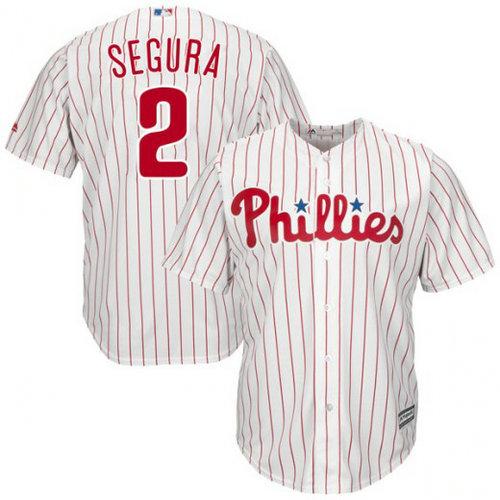 Youth Philadelphia Phillies #2 Jean Segura White Jersey