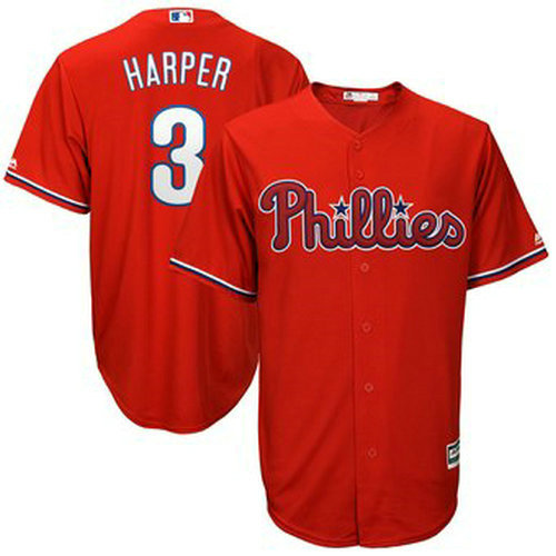 Youth Philadelphia Phillies 33 Bryce Harper Cool Base Jersey