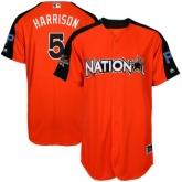 Youth Pittsburgh Pirates #5 Josh Harrison Orange National League 2017 MLB All-Star MLB Jersey