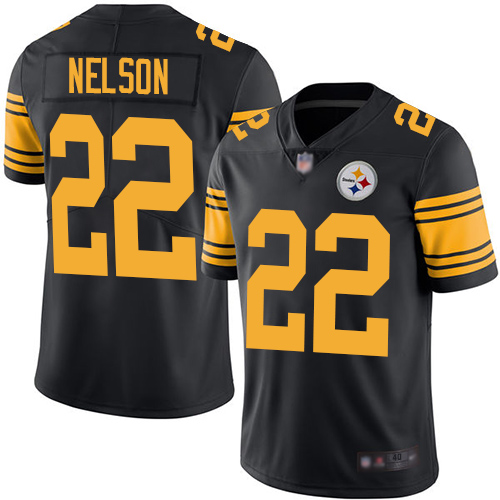 Youth Pittsburgh Steelers #22 Steven Nelson Black Rush Vapor Untouchable Limited Jersey