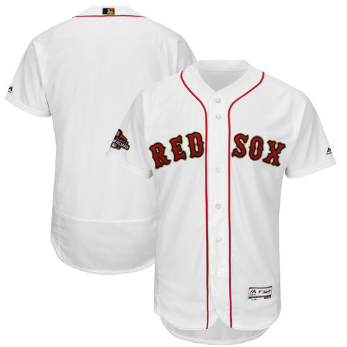 Youth Red Sox Blank White Youth 2019 Gold Program FlexBase Jersey