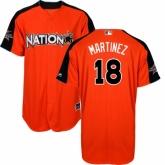 Youth St. Louis Cardinals #18 Carlos Martinez Orange National League 2017 MLB All-Star MLB Jersey