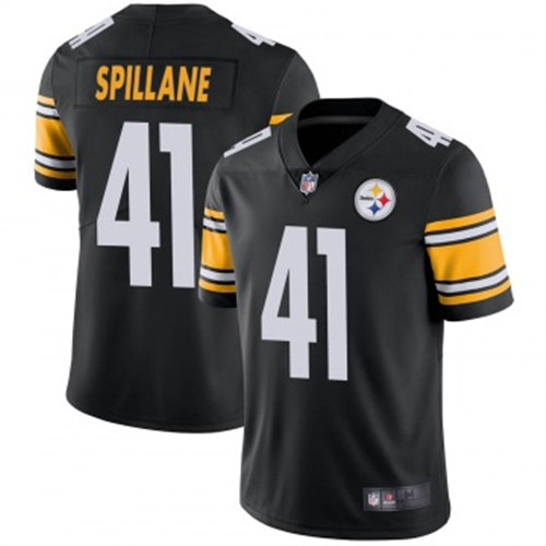 Youth Steelers #41 Robert Spillane Black Jerseys