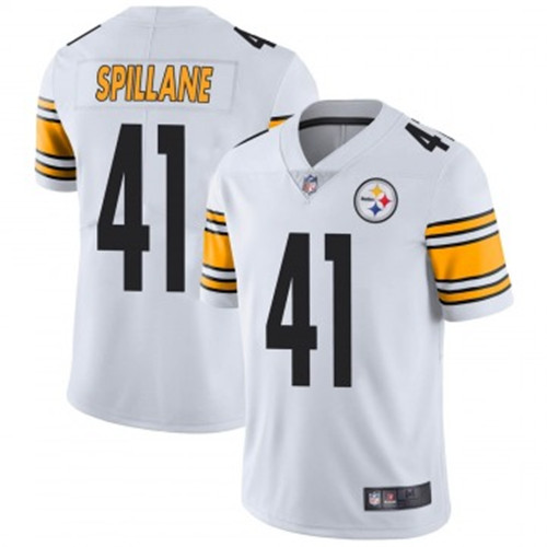 Youth Steelers #41 Robert Spillane White Jerseys