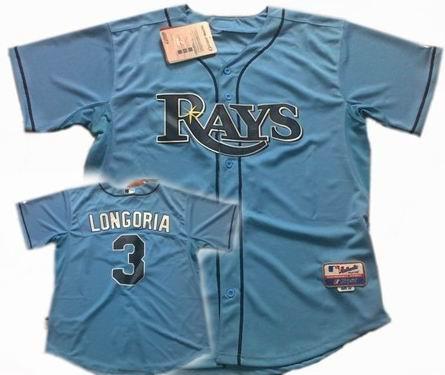 Youth Tampa Bay Rays #3 Evan Longoria LT.blue