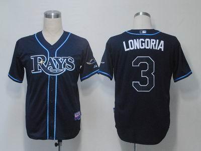 Youth Tampa Bay Rays 3 Longoria Dark Blue Cool Base