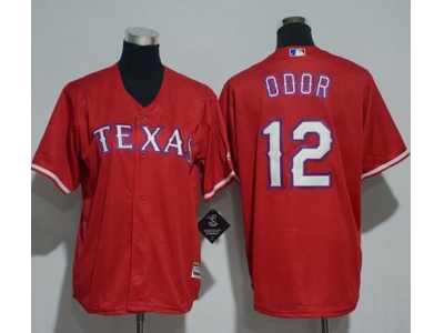 Youth Texas Rangers #12 Rougned Odor Red Jersey