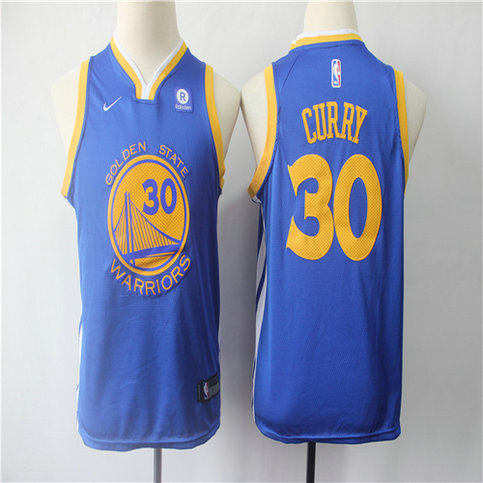 Youth Warriors 30 Stephen Curry Blue Youth Nike Swingman Jersey