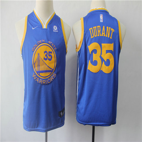 Youth Warriors 35 Kevin Durant Blue Youth Nike Swingman Jersey