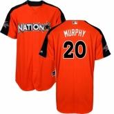 Youth Washington Nationals #20 Daniel Murphy Orange National League 2017 MLB All-Star MLB Jersey