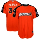 Youth Washington Nationals #34 Bryce Harper Orange National League 2017 MLB All-Star MLB Jersey