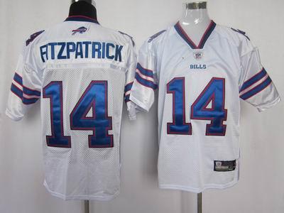 buffalo bills #14 fitzpatrick 2011 white color jersey