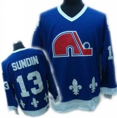 cheap Quebec Nordiques jeresy #13 mats sundin blue CCM Jersey