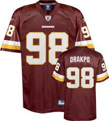 kids 98# Brian Orakpo Burgandy Washington Redskins red Jersey