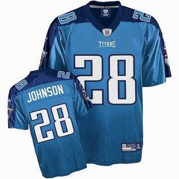 kids Tennessee Titans #28 Chris Johnson jerseys LT blue