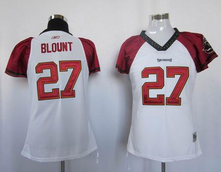 women Tampa Bay Buccaneers #27 blount white jersey