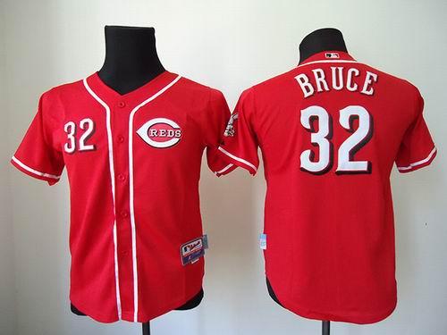 youth Cincinnati Reds 32# Jay Bruce Red jerseys