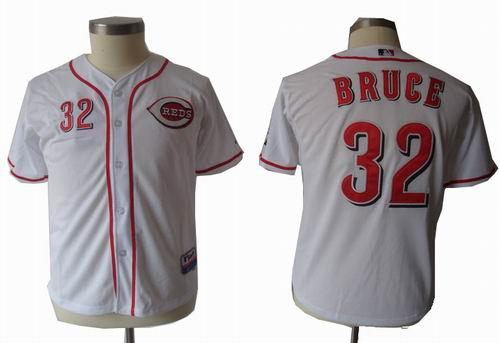 youth Cincinnati Reds 32# Jay Bruce White jerseys
